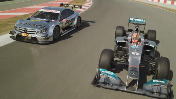 Michael Schumacher y Ralf Schumacher en Montmelo