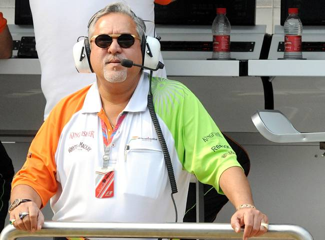 Vijay Mallya  sahara  force india