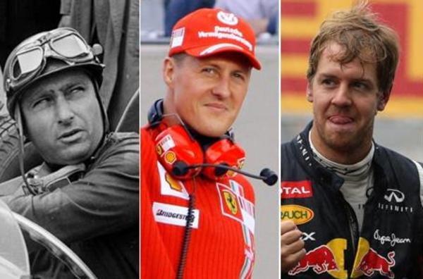 Fangio - Schumacher - Vettel