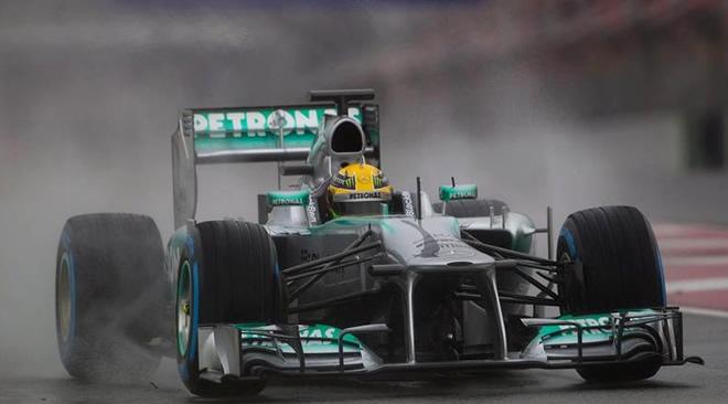 Lewis Hamilton, Mercedes Montmeló 2013 - 4 dia 1 Test Barcelona