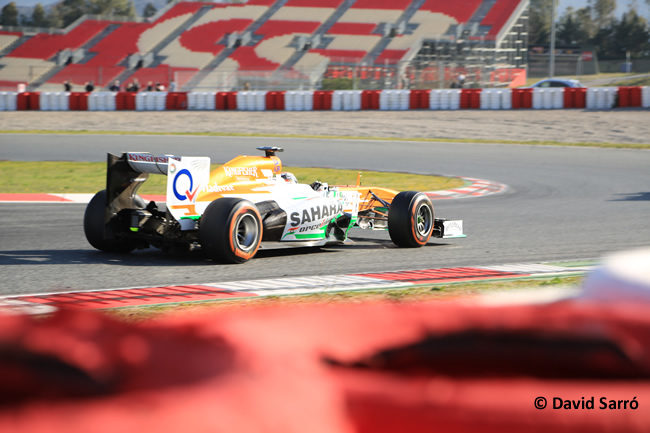 Adrian Sutil - Test Bcn 2013 - David Sarró