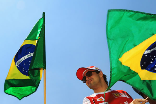 Felipe Massa - Bandera Brasil