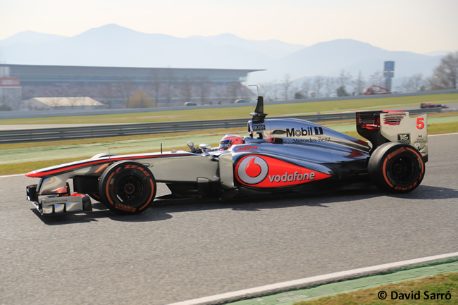 Jenson Button - Test  BCN 2013 - David sarro