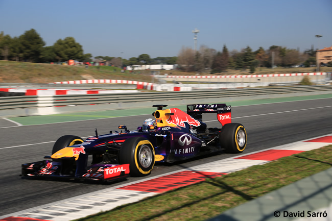 Sebastian Vettel Test BCN 2013 David Sarró