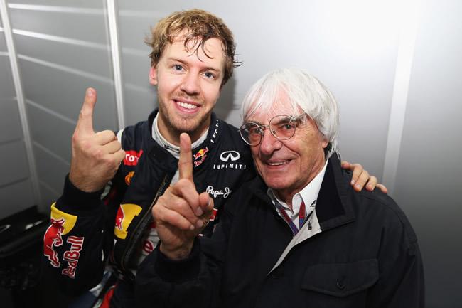 Sebastian Vettel -  Bernie Ecclestone - Brasil 2012