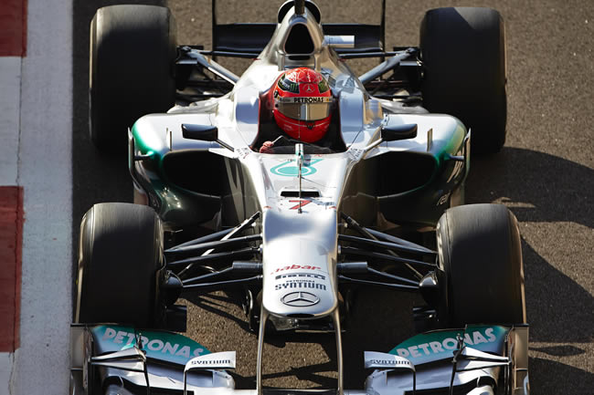 Michael Schumacher Abu Dhabi 2012