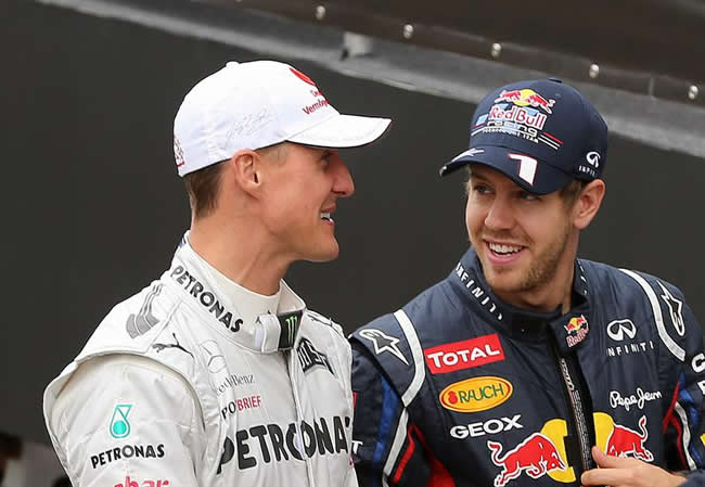 Michael Schumacher y Sebastian Vettel