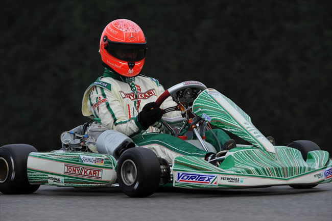 Michael Schumacher Tony kart Test