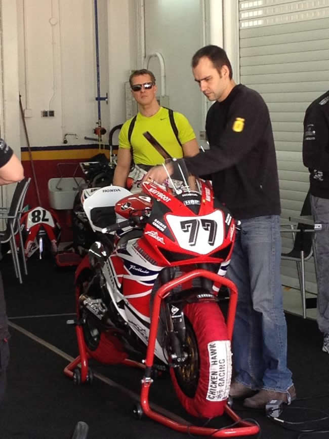 MIchael Schumacher Test Superbike Honda