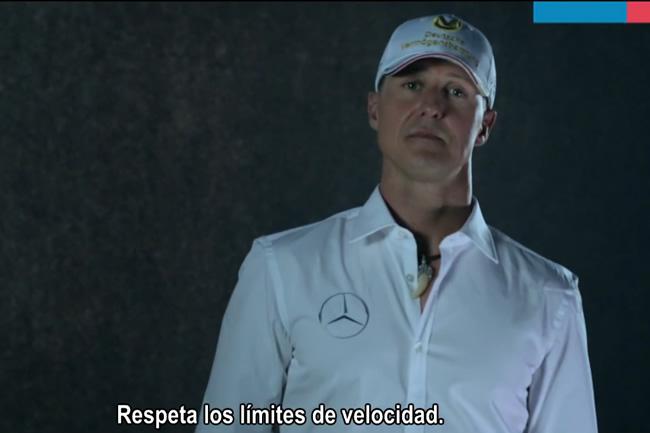 Michael Schumacher - Campaña Chile -  Tolerancia Cero al exceso de velocidad